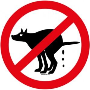 Skylt, förbjudet att bajsa ©Anneli Tofte 2012