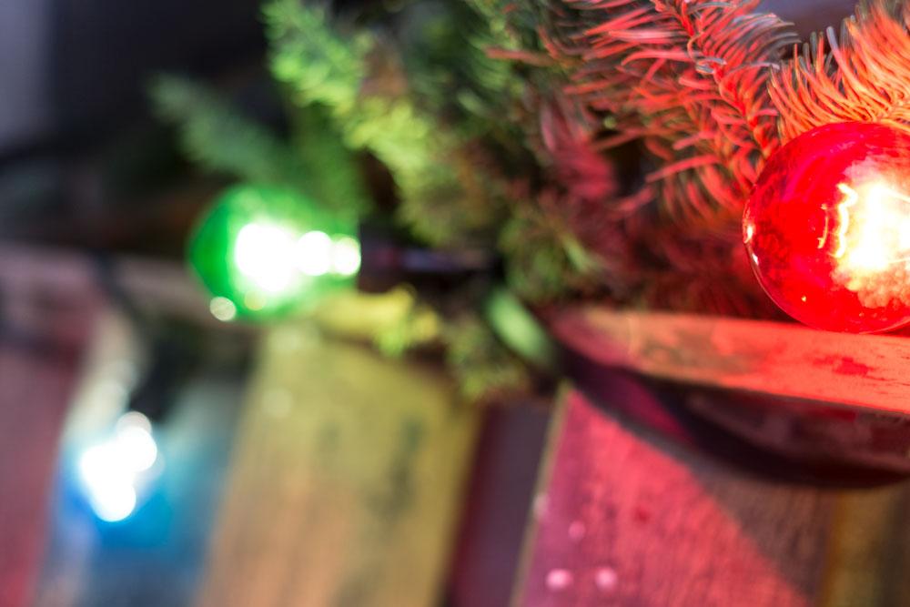Julgransbelysning röd grön blå